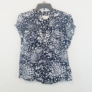 Michael Kors Cotton Blouse Size 12 Large